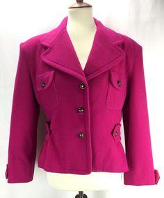 83f72e671343b Vertigo Paris Pink Wool Cashmere Short Pea Coat  VertigoParis  Blazer  PeaCoat  Cashmere Pea