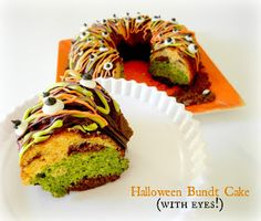 Sugar Swings! Serve Some: Tri-color Halloween Bundt Cake Colored with Spinach, Sweet Potato and Beets