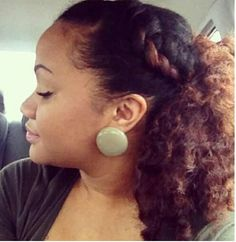 So cute with the twist and earrings!