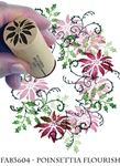 Poinsettia Flourish Fabric Stamp Set from Rubber Stamp Tapestry