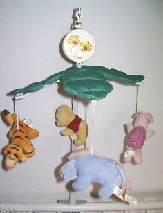Winnie the Pooh & Friends Baby Musical Crib Mobile Plays Pooh Song Nursery Infant boy or girl  $38.90 on sale now