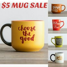 $5 Mug Sale going on now. Give the gift of inspiration. Jumbo and Standard size mugs available.  #Promoted #Sponsored #Affiliate #Paidad #coffeemug #Dayspring #inspirationalgifts #Gifts #Inspiration #Quotes #Christmas #Thanksgiving