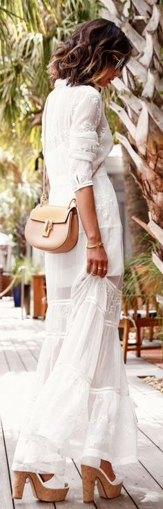 White Beach Maxi Dress by Vivaluxury