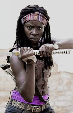 I want to be fit and strong like Michonne rather than trying to be as skinny as her.: