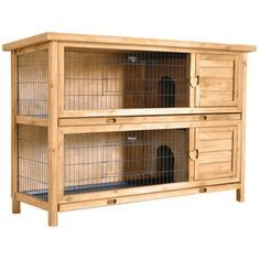 Two Storey Rabbit Hutch - $139.00 @ home hardware.....would be good for overwintering 2 bunnies if it was inside a barn or something. This would be O.K. to overwinter 1 buck & 2 does if not breeding them.