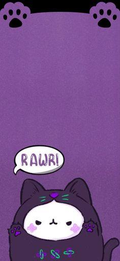 Iphone Wallpaper Kawaii, Htc Wallpaper, Cute Anime Wallpaper, Aesthetic Iphone Wallpaper, Screen Wallpaper, Wallpaper Backgrounds, Ios Wallpapers, Pretty Wallpapers, Purple Walls