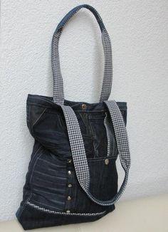 """Tasche aus Jeans Upcycling """"Rapunzel"""" von Gasani auf DaWanda.com"""