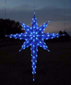 Blue Moravian Star Holidaylights Icicle Lights Indoor String Le