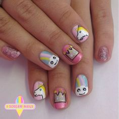 This pretty pretty unicorn design.   29 Spectacular Nail Art Designs You Need In Your Life