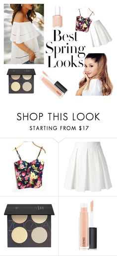 """best spring looks"" by sophie-jane03 on Polyvore featuring H&M, WithChic, Boutique Moschino, ZOEVA, MAC Cosmetics and Essie"