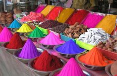 Dye that is used for rangoli. #photography, #color, #india, #bazaar