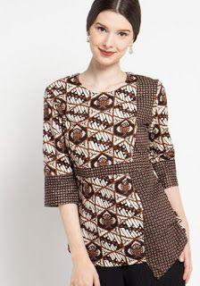 Blouse Batik, Batik Dress, Simple Shirt Design, Dress Batik Kombinasi, Batik Couple, Dress Brokat, Batik Kebaya, Batik Fashion, Blouse Models