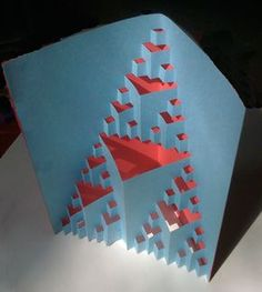 Triangle Fractal Cutout    Make a 3D cutout fractal and turn it into a pop-up card.