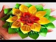 DIY // HTM: Flor de Papel estilo Kusudama // Kusudama Flower