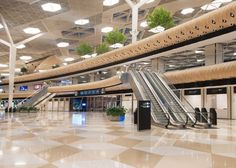 Turkish architecture studio Autoban has designed giant wooden cocoons for the interior of the new international terminal at... UPVISUALLY.COM