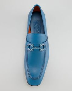 Salvatore Ferragamo Tribute Bit Loafer, Blue - Neiman Marcus