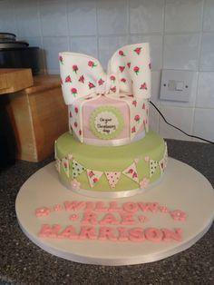 Little girl's christening cake
