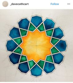 Top Geometric Back Tattoos Islamic Art Pattern, Arabic Pattern, Pattern Art, Motifs Islamiques, Azulejos Art Nouveau, Tattoo Muster, Islamic Tiles, Arabesque Pattern, Geometric Drawing