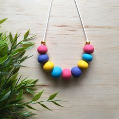 Short Pastel Necklace (2) by LittleLionessCo on Etsy