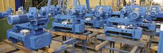 In the photos we can see numerous of swivel hoists, with 600kg capacity and a lift height of 7m, which are on final processing of manufacturing. The steering motors are mounted on the opposite side...