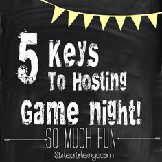 5 Tips for hosting an awesome game night! www.sistersisternyc.com