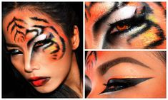 ''TIGER'' Halloween makeup look