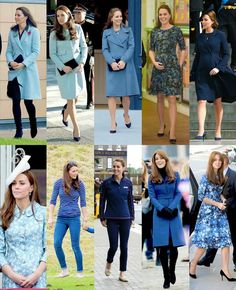Duchess of Cambridge in blue
