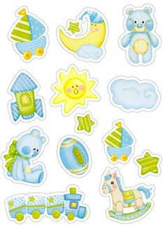 Скрапбукинг, рукоделие, Картинки для детских работ (15 шт) Clipart Baby, Baby Boy Scrapbook, Baby Design, Kids Cards, Baby Cards, Printable Stickers, Planner Stickers, Moldes Para Baby Shower, Imprimibles Baby Shower