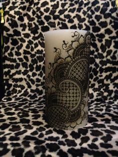 Henna candle - practicing with a design by Amelia Dregiewicz