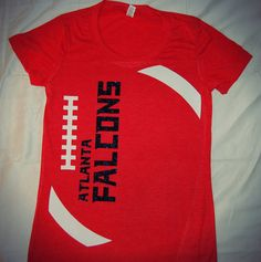 Atlanta Falcons football tshirts women's Game Day Chic Clothing http://www.gamedaychicclothing.com/game-time-custom-football-tee/
