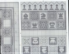 Cross-stitch Chess Board Game Pieces Bag, part 3 Cross Stitch Embroidery, Cross Stitch Patterns, Cross Stitch Games, Board Game Pieces, Loom Patterns, Loom Beading, Blackwork, Needlepoint, Needlework
