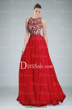 Extraordinary Sleeveless Chiffon Evening Dress Featuring Beaded Bodice. This is so unique and beautiful:)