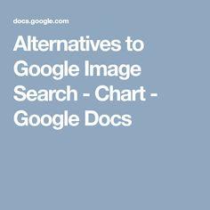 Alternatives to Google Image Search - Chart - Google Docs