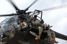 Army Rangers from the 1st Battalion, 75th Ranger Regiment jump down from a MH-6M Little Bird helicopter operated by the 160th SOAR. Description from whq-forum.de. I searched for this on bing.com/images