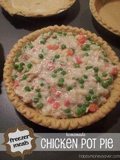 Frugal Food: Homemade Chicken Pot Pie - Happy Money Saver   Homemade   Freezer Meals   Homesteading