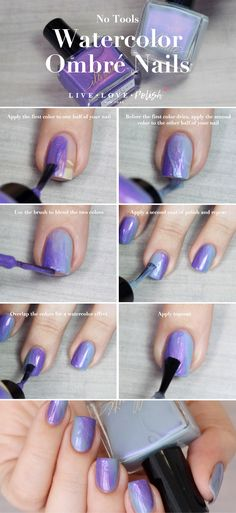 The ombre nail color trend is still a huge hit amongst nail art lovers. If you want to achieve this gorgeous gradient color look at home, here's the good news – ombre nails are one of the easier nail art techniques that you can do yourself. Ombre Nail Colors, Ombre Nail Designs, Nail Polish Designs, Nail Art Designs, How To Ombre Nails, Gradient Color, Gel Polish, Nail Art Diy, Easy Nail Art