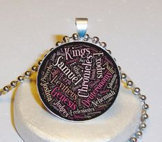 Bible Words Necklace $5.00 - Personalized With Your Image $10.00 at www.pifs.etsy.com