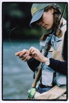 Have my own fly fishing pole, just need to learn again!  Used to fly fish with my dad.  :-)  Great memories!