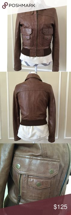Ben Sherman Bomber Leather Jacket Ben Sherman Brown Bomber Leather Jacket in EUC. Size small. Ben Sherman Jackets & Coats
