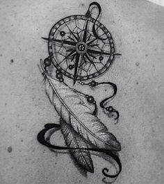 dream catcher compass tattoo - Google-Suche