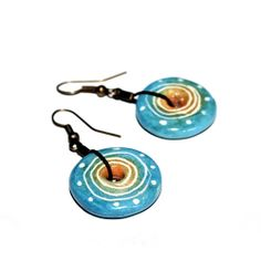 Spiral Universe colorful, spiritual earrings