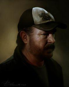 Bobby by Blakravell on DeviantArt Supernatural Bobby, Supernatural Cosplay, Supernatural Drawings, Castiel, Winchester, Satan, Boy Walking, Bobby Singer, Fanart