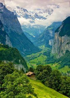 lauderbrunen valley in switzerland
