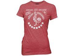 Ripple Junction Sriracha Bottle Label Junior T-Shirt Large $20