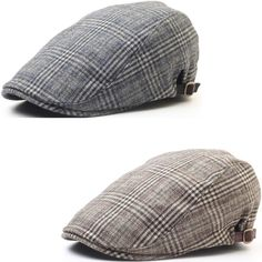 6cae6ad76a4 New Men Luxury Check Pattern Newsboy Cap Cabbie Golf Ascot Gatsby Beret Hat