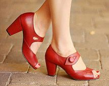 Handmade 1940's vintage style shoe dorothy from wizard of OZ shoes