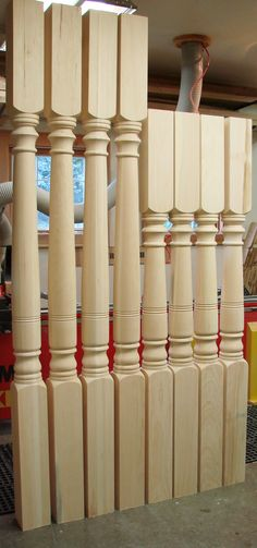 Stair Balusters Spiral Twist Carved Wood Spindles