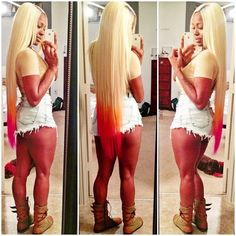 Get bleach blonde shades with our 6A 7A  grade virgin hairs at http://www.goddessweaves... !!