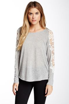 I recently bought this. Love love... I think this can actually work all year long. Summer in cali really isn't that warm , lol. But it's light enough to use throughout the year.  WallpapHer Crochet Long Sleeve Tee by WallpapHer on @nordstrom_rack