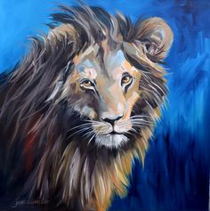img_9729 Living In New Zealand, Palette Knife Painting, Leopards, Tigers, Lions, Lion Sculpture, Statue, Canvas, Artist